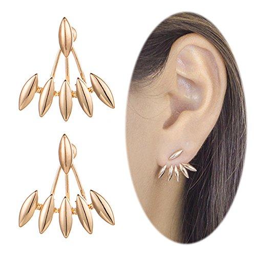 Hot Diamonds Diamond Huggie Earrings (Ear Studs Crawler Earrings Cuffs Climber Ear Wrap Pin Vine Pierced Charm Cute Drop Dangle Clip On Jewelry Golden Plated)