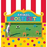 Amscan Carnival Fair Fun Animal Golf Set Game Party Activity, Plastic , 11'' X 14'', Pack of 11 Game