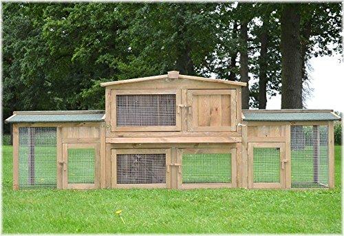 XXL Stall 2 PL Kaninchenstall Hasenstall Kaninchenkäfig Hasenkäfig Kleintierstall