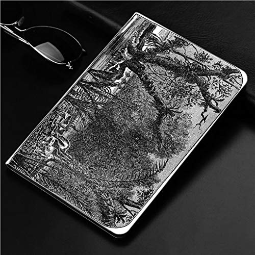 Compatible with 3D Printed iPad Pro 10.5 Case Victorian Engraving of The Amazonian rain Forest 360 Degree Swivel Mount Cover for Automatic Sleep Wake up ipad case