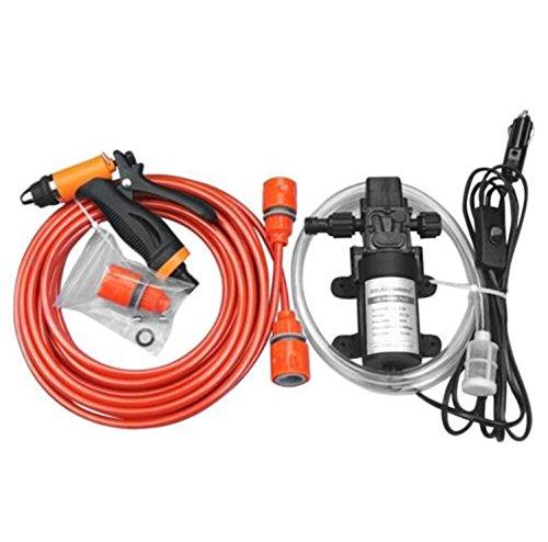 USA Premium Store Portable 12V 130PSI High Pressure Car Wash Pump Kit Electric Washer Self Priming