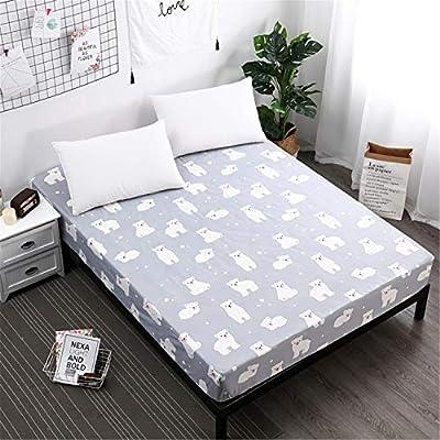JUNDY Bedding Protector de colchón Impermeable de Funda de colchón ...