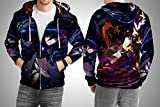 (US) ANIME BLACK ROCK SHOOTER ACTION Custom Fullprint Sublimation Tshirt (XXL, Zipper Hoodie)