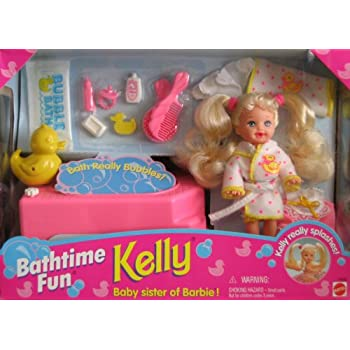 Barbie kelly bathtime fun set kelly really for Accessoire maison barbie