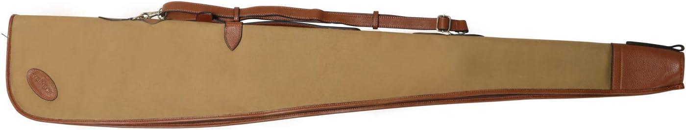 Tourbon - Funda acolchada para escopeta de 129,5 cm, de cuero y lona, color 52