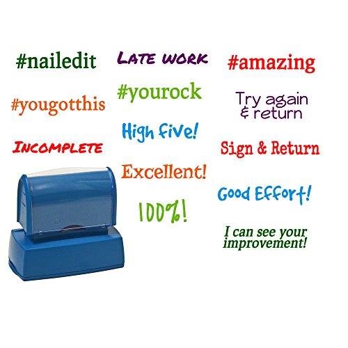 Self Stamped Envelope - One Custom Teacher Stamp, Self Inking Stamper for teachers, Gift, Rubber Stamper with Premium Ink