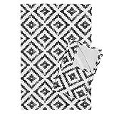 Aztec Southwest Southwestern Monochrome Black and White Distressed Grundge Tea Towels Aztec Distressed by Littlearrowdesign Set of 2 Linen Cotton Tea Towels