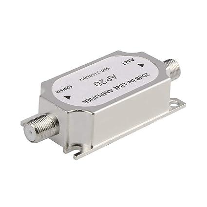Amplificador en línea del Amplificador del satélite 20dB 950-2150MHZ Amplificador de la señal para