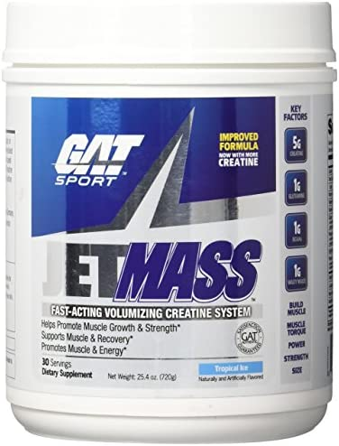 GAT JETMASS Fast Acting, volumizing Formula Creatine System 30 S Tropical Ice
