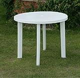 NEW ProGARDEN ROUND WHITE PLASTIC GARDEN PATIO TABLE PARASOL HOLDER SLOT 326703