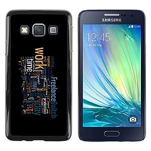 TECHCASE**Cubierta de la caja de protección la piel dura para el ** Samsung Galaxy A3 SM-A300 ** Motivational Typography