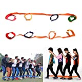 Everydlife 4 Legged Race Bands Outdoor Activities Games for Kids Adults Families Birthday Party Outside Childrens Team Game (4 Legged)