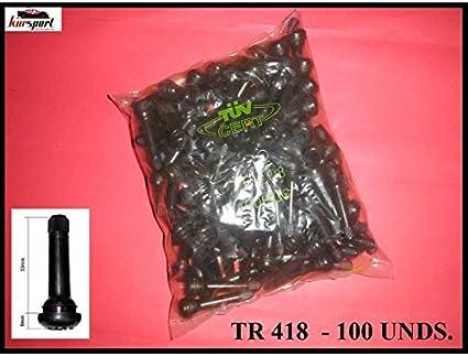 Utilidad en Coche Bolsa de 100 Unidades Todoterreno 4X4. Especial para Llantas de Chapa//Acero Furgoneta Kursport V/álvulas TR418 para neumaticos furgon