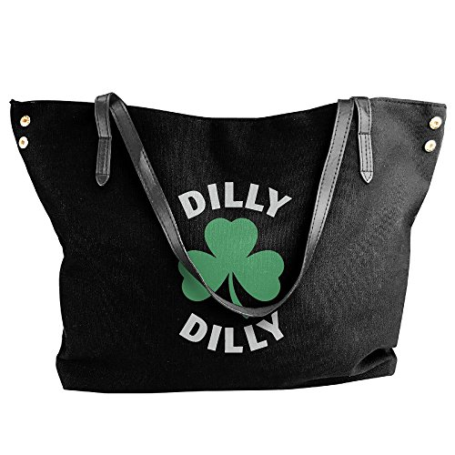 Black Hand Day Tote Handbag Canvas Shoulder Bag Patricks Large Women's Dilly Saint Dilly qz7vBx