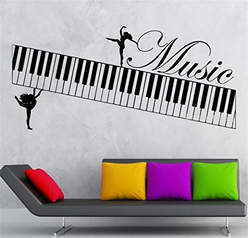 Fioils Quotes Wall Stickers Removable Vinyl Art Decal Music Muse Piano Musical Instrument DIY Decal Livingroom Dance Room Decor