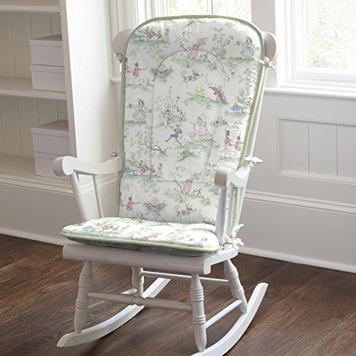 Carousel Designs Nursery Rhyme Toile Sage Rocking Chair Pad by Carousel Designs