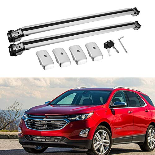 MotorFansClub Crossbar Cross Bars for Chevrolet Equinox 2018 2019 Luggage Rack Top Roof Rack Cargo Rack ()