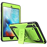iPad Mini 4 Case, [Heave Duty] i-Blason Apple iPad Mini 4 2015 Armorbox [Dual Layer] Hybrid Full-body Protective Kickstand Case with Front Cover / Screen Protector / Bumpers (Green)