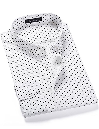 XI PENG Men's Fashion Dress Polka Dot