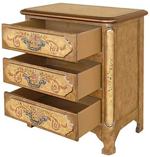 (Lux Home Bombay 3-Drawer Natural Accent Chest )
