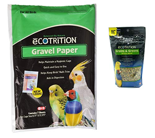 - eCOTRITION Gravel Paper for Birds 8 3/4