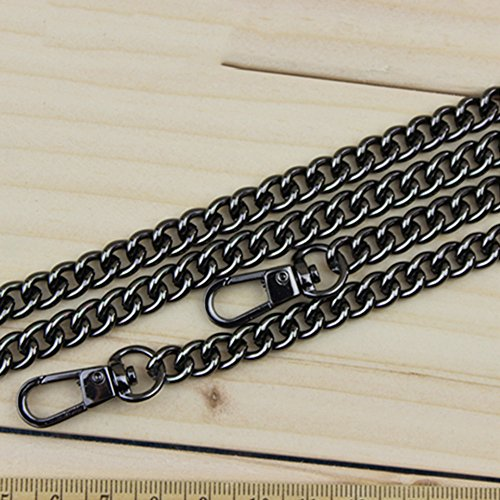 Belt Shoulder Bag For Metal Strap 100cm Chain Handbag Silver Replacement Black Merssavo 9mm Women's 80wP7