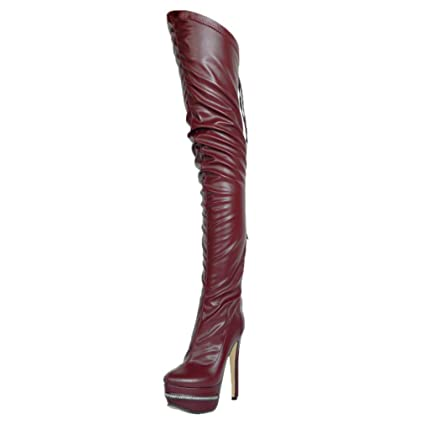 a50833c5ed1b4f Hy 2018 New Women s Boots Artificial PU Fall Winter Over-Knee Boots Ladies