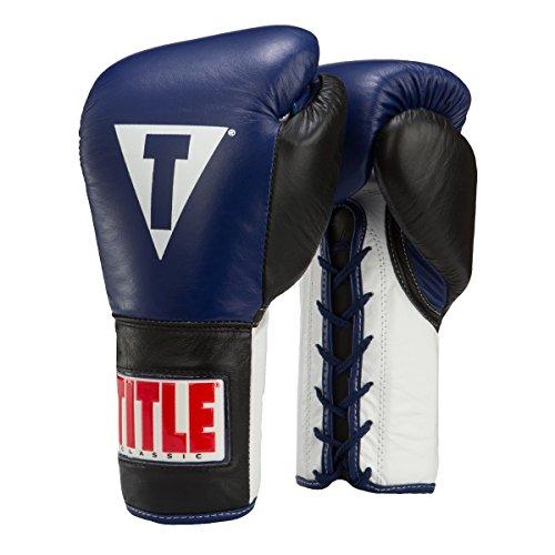(Title Classic Corrupt Pro Fight Gloves, Blue/Black, 8 oz)