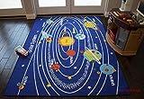 Kids Area Rugs Solar System 8'x10′ Educational Learning Play Carpet Non Skid Nursery Kids Rug Playroom Bedroom (Kids Solar) For Sale