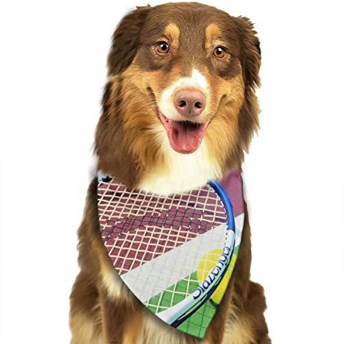Pet Scarf Dog Bandana Bibs Triangle Head Scarfs Tennis Ball Accessories for Cats Baby Puppy]()