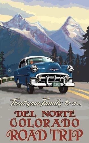 Northwest Art Mall Del Norte Colorado Road Trip RTP Wall Art by Paul A. Lanquist, 11-Inch by - Mall Del Norte