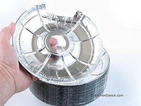 Durable Packaging Large Electric Disposable Foil Burner Bib #6200L 50