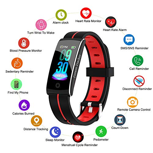 Fitness Tracker, Smart Watch with Heart Rate Blood Pressure Sleep Moni