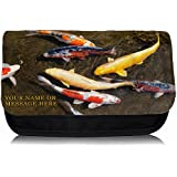 Personalised Koi Carp Sh148 Pencil Case / Small Wash Bag / Glasses Medication Carrier by Krafty Gifts