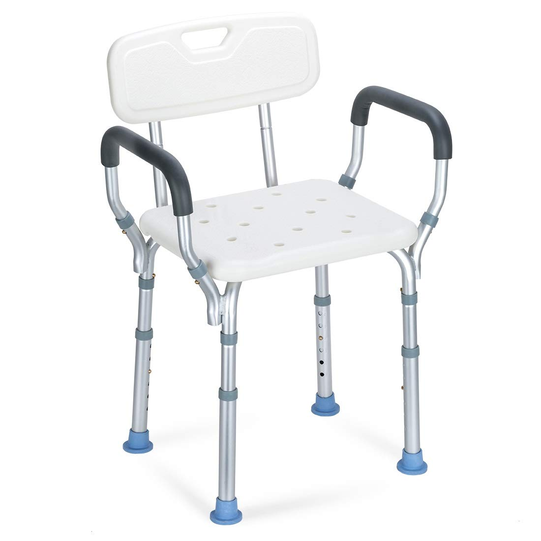 OasisSpace Heavy Duty Shower Chair with Back - Bathtub Chair with Arms for  Handicap, Disabled, Seniors & Elderly - Adjustable Medical Bath Seat