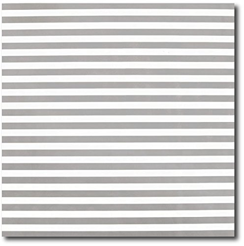 20 Ft Soft Grey Stripe Giftwrap - 30