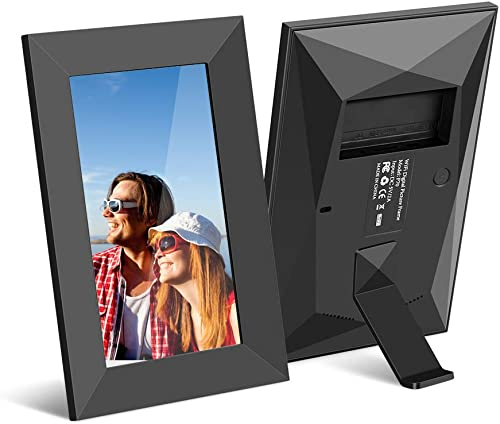 Scishion 7inch 16G WiFi Digital Photo Frame with HD IPS Display Touch Screen – Share Moments Instantly via Frameo App from Anywhere