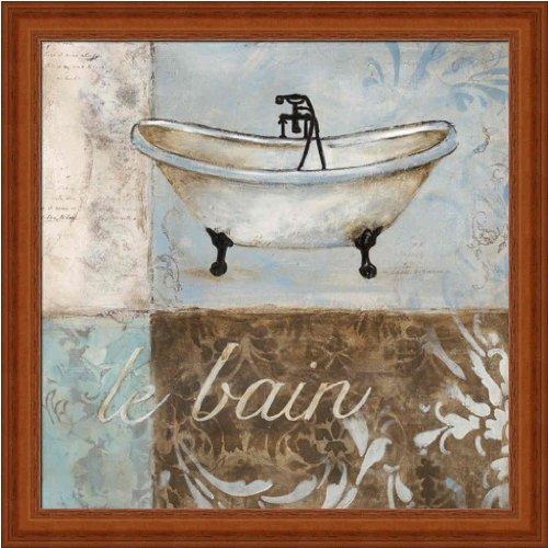Le Bain by Carol Robinson Contemporary Bathroom Decor Framed