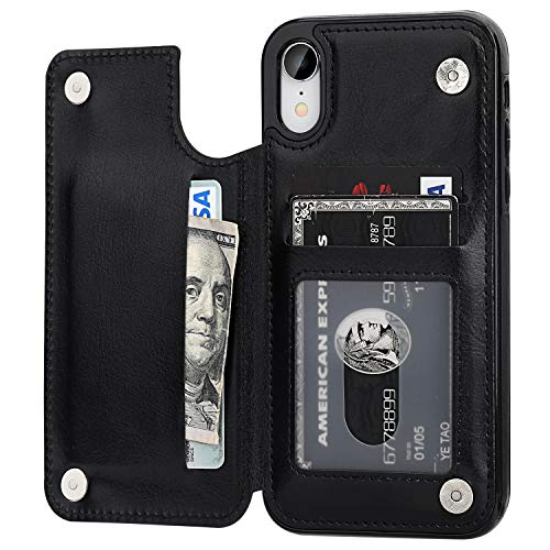 OT ONETOP iPhone XR Wallet Case with Card Holder