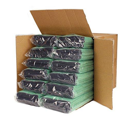 Cedar Creek 12''x16'' Premium Plush Microfiber Cleaning Cloths, Professional Grade, Green, 144 Case Value Pack by Cedar Creek (Image #2)