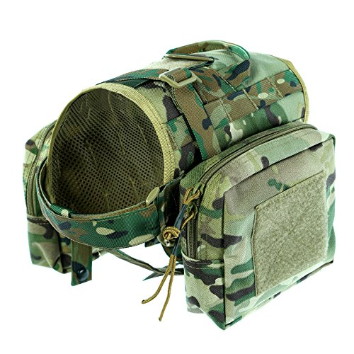 Yisibo Tactical Dog Vest Training Dog Pack Molle - Camo Dog Backpack