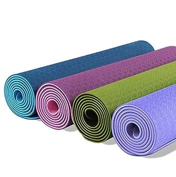 TPE Yoga Mat con correa ecológico doble cara colchoneta de ...