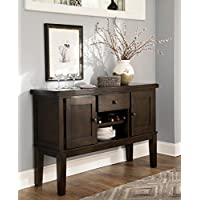 Handigan Casual Dark Brown Color Dining Room Server