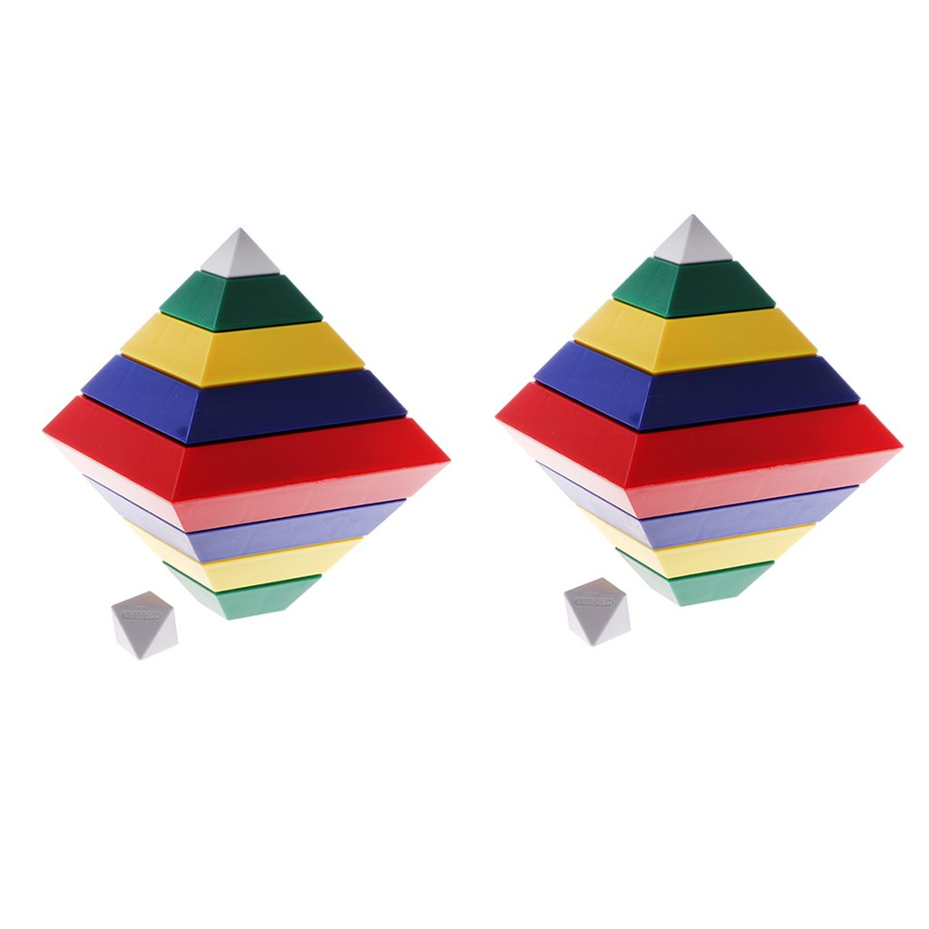 Homyl Kids/Baby Early Learning DIY Building 30pcs Pyramid Tower Blocks Stacking Board Game Toy