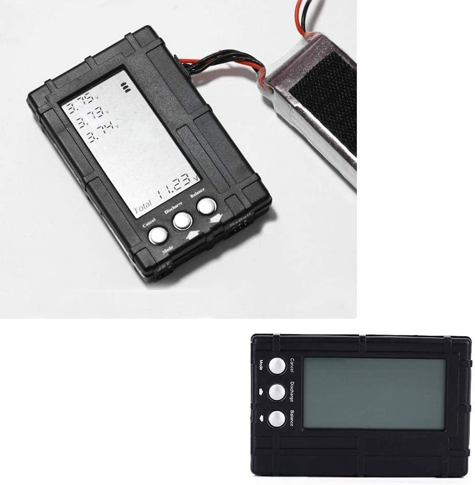 3 en 1 RC LCD Li-Po balanceador de la bater/ía Capacidad del medidor de tensi/ón Tester Digital de la bater/ía Comprobador de controlador Tester Negro