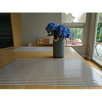 Amazoncom Miles Kimball Clear Plastic Placemats Home Kitchen - Clear placemats for table