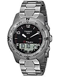 Tissot Men's TIST0474204405700 T-Touch Black Tactile Watch