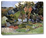 """This 16"""" x 20"""" premium giclee canvas art print of Landscape at Pont Aven by Paul Gauguinis created on the finest quality artist-grade canvas, utilizing premier fade-resistant archival inks that ensure vibrant lasting colors for years to come. Every ..."""