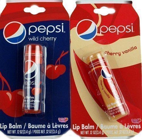 Set of 2 Novelty Pepsi Cola Lip Balms - Vanilla And Cherry C