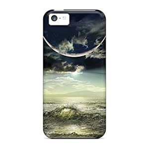 Iphone High Quality Tpu Case/ Abstract Moon VKdHGfn5152FJrAt Case Cover For Iphone 5c